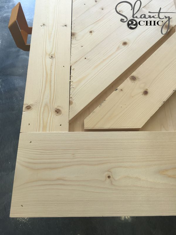 how to build a sliding barn door console