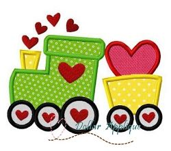 Love Train Applique - 3 Sizes! | What's New | Machine Embroidery Designs | SWAKembroidery.com Dollar Applique