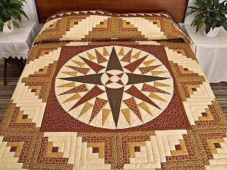 Free Mariners Compass Quilt Block Pattern - Website of zupublob!