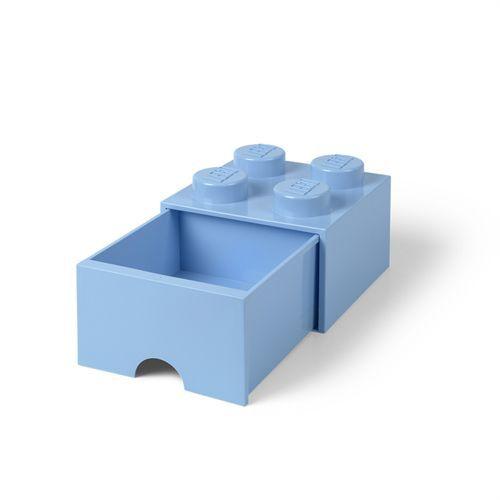 LEGO opbevaringskasse med 1 skuffe - Lyseblå H 18 x L 25 x B 25 cm - Flot opbevaringsmulighed - Passer i alle rum - Coop.dk
