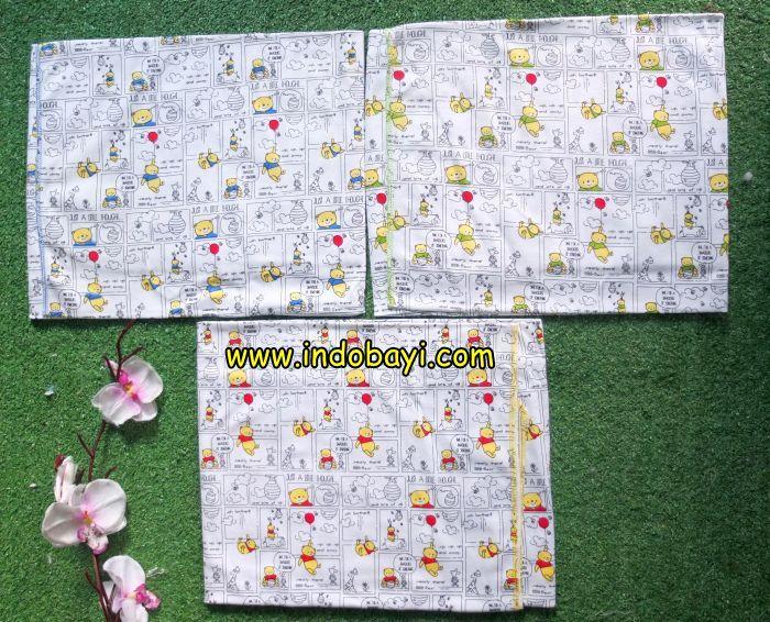 Bedong kaos mamimu bear putih uk 90x115cm idr 37.500 per