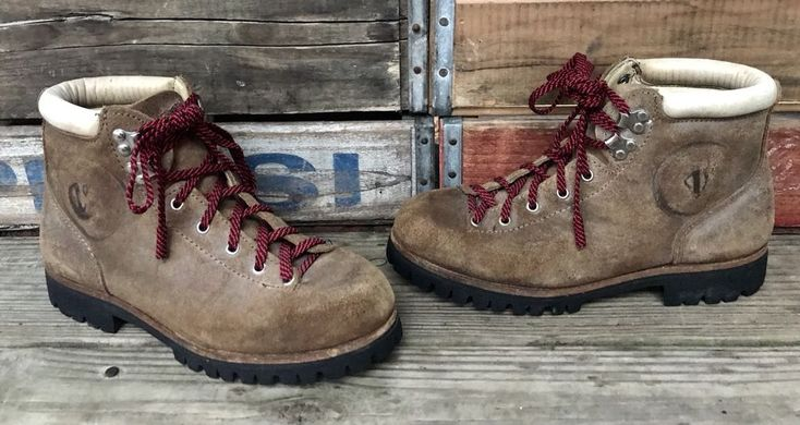 VASQUE Italian Split Cowhide Leather Mountaineering Hiking Boots Women's 8.5B #Vasque #Hiking #Hiking