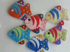 Peces de fieltro - Felt fish