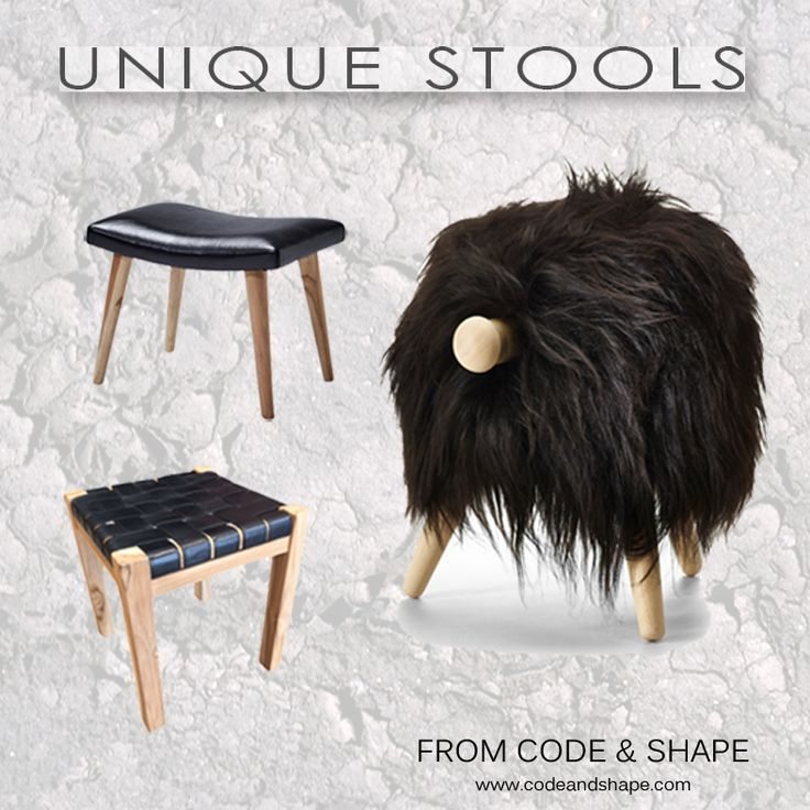 Unique stools from codeandshape