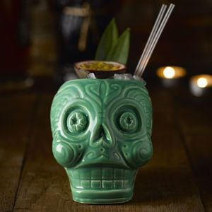 Day Of The Dead Cocktail Mug | From trick or treating and pumpkin carving, to watching scary movies and having a party, there's so much you can enjoy on the spookiest night of the year. Time to get Halloween-ready.