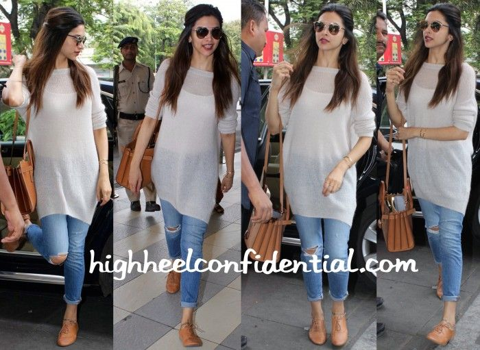 Deepika Padukone (And Her Saint Laurent) Photographed At The Airport-1