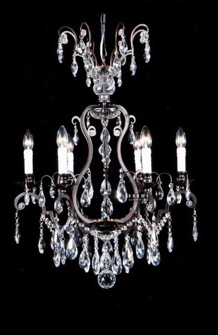 Wh wholesale vintage lead crystal table lamp buy cheap - Aliexpress Com Buy Free Shipping White Wrought Iron Chandelier Princess Loved Crystal Chandelier For