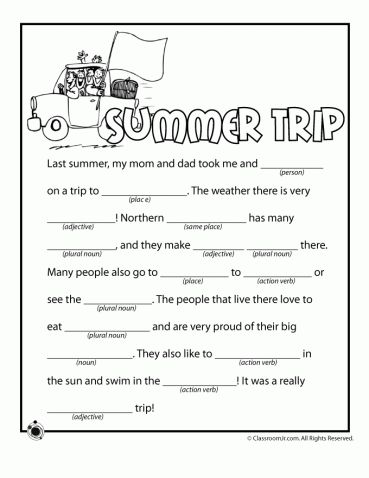 Summer Mad Libs