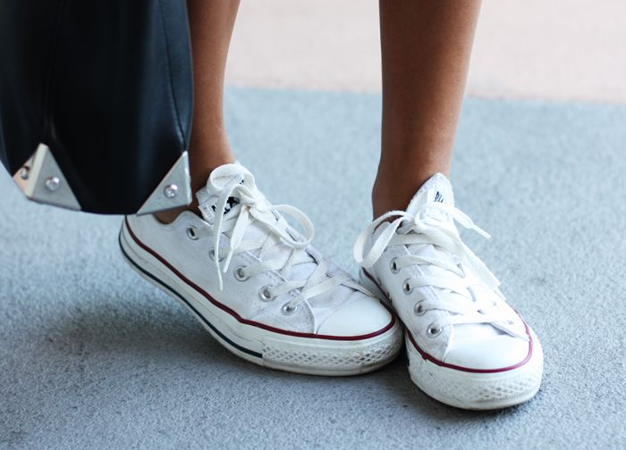 white converse, my weekend shoe