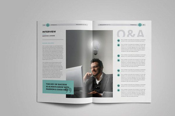Annual Report by inthesign on @creativemarket #annualreport #company #brochure #financial