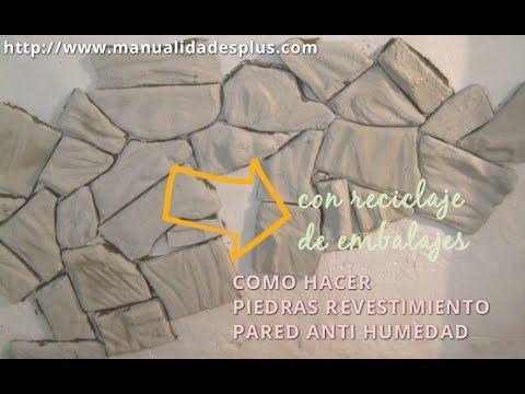 http://www.manualidadesplus.com Presenta Como hacer Piedras para Revestimiento de Pared Anti Humedad se pueden Vender por m2 en bolsas ayudas al medio ambien...