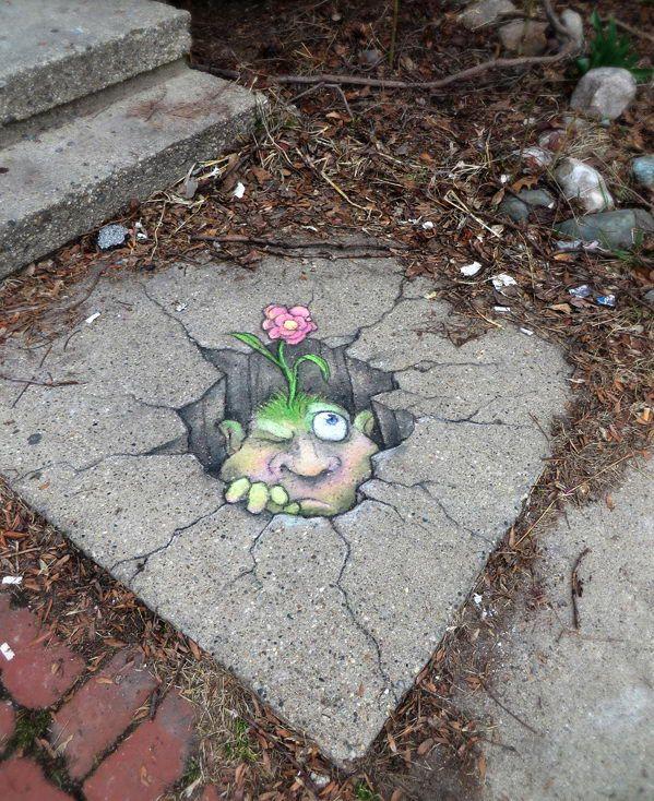 Chalk Street Art by David Zinn.