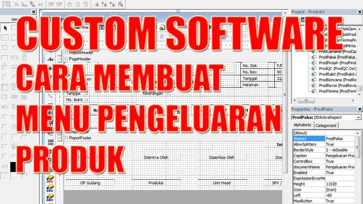 Custom Software Cara Membuat Menu Pengeluaran Produk Custom Menu Software