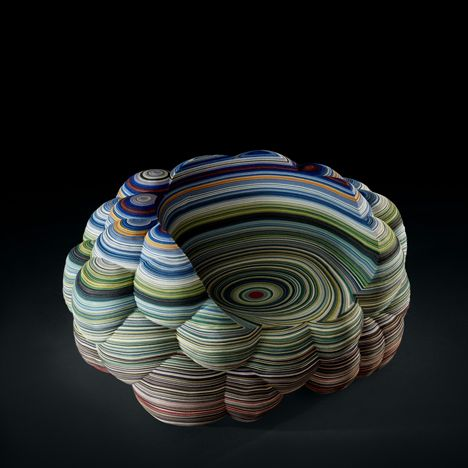 Richard Hutten's Colorful Stacked Fabric Chair: JuxtapozRichardHutten00.jpg