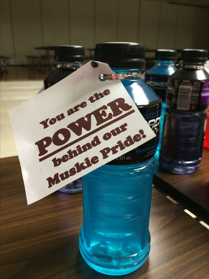 Locker treat for our football players this week! Go Mini Muskies!!❤️ get more…