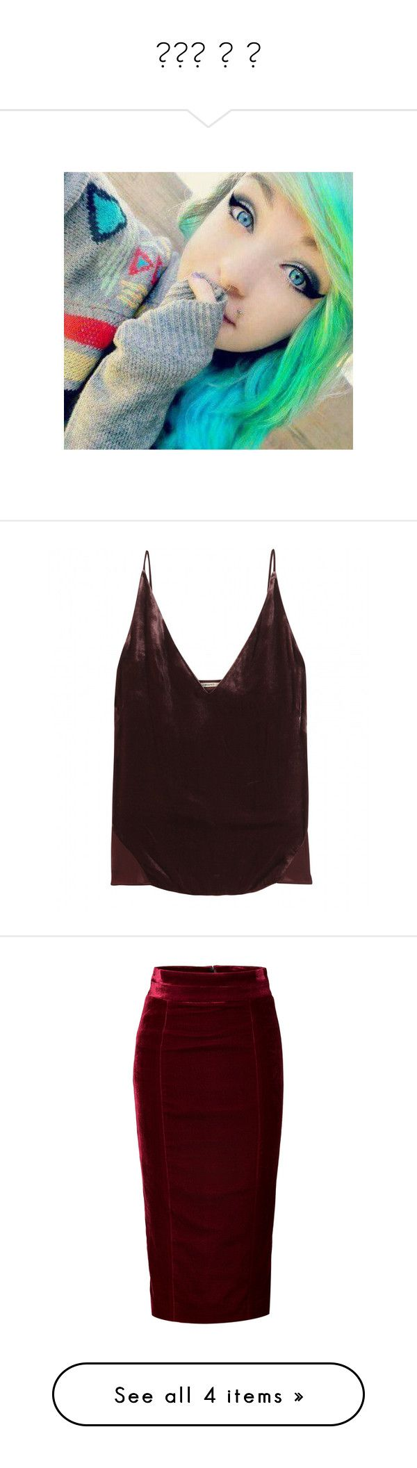 """""""❤️❤ ❤ ❤"""" by prettylittleliarsssss ❤ liked on Polyvore featuring intimates, camis, tops, purple, velvet camisole, purple cami, j brand, purple camisole, skirts and bottoms"""