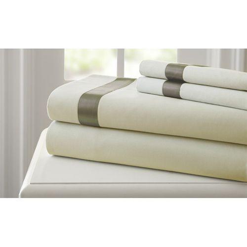 fine linens linen and mocha fourpiece 400 thread count california king sheet set