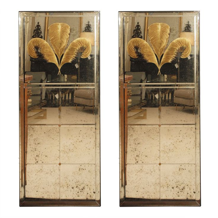 Two Stylish Eglomise Mirrors Prince Of Wales Mirror