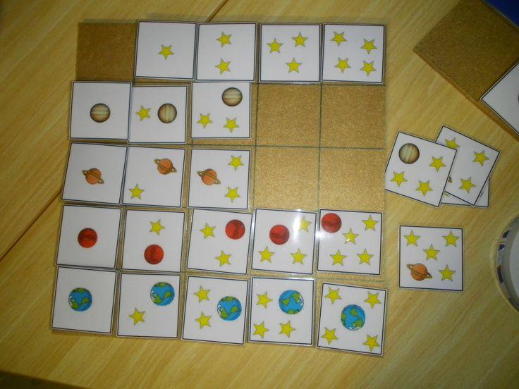 Matrix met sterren en planeten: aantal sterren + verschillende soorten planeten *liestr*
