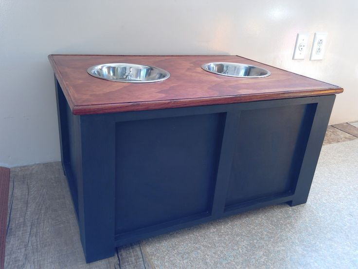 I finally finished my dog food storage container. I was inspired by the plans over atAddicted 2 DIY http:// addicted2diy.com/2015/07/31/di...