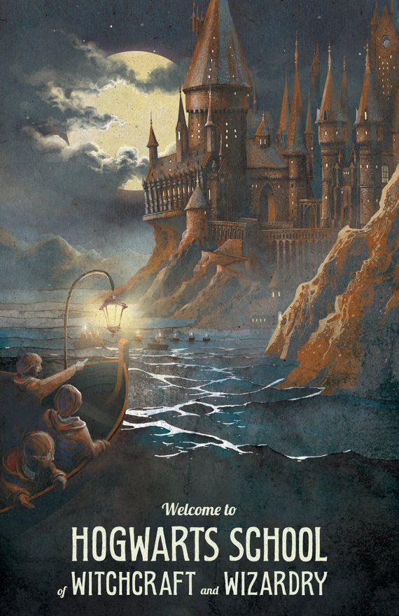"""Just imagine pulling up in the middle of the night to your new home, ~Hogwarts~. 