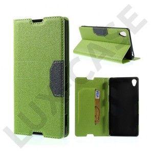 Heiberg (Grøn) Sony Xperia Z3 Læder Flip Etui