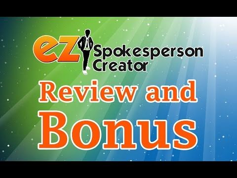 EZ Spokesperson Creator   PREVIEW   Todd Gross REVIEW