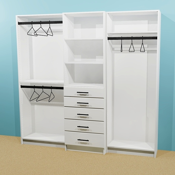 Custom Floor Standing Closet Modules...Pick From Many Options And  Configurations.