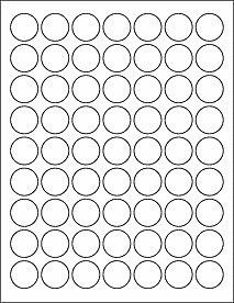 1 inch matte white circle labels with permanent adhesive, 10 sheets (630 labels). Perfect for price tags, product labels, lip gloss labels.