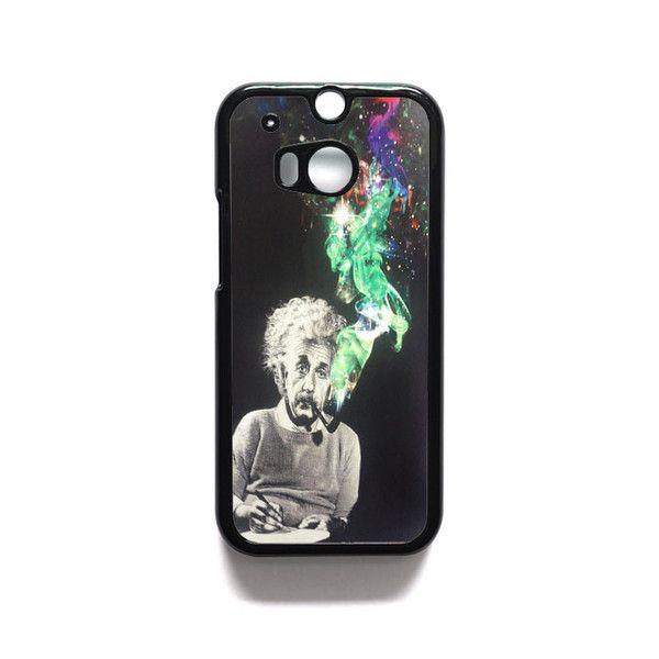 Albert Einstein Smoking HTC One M7 M8 iPod Touch 4 5 Case Cover