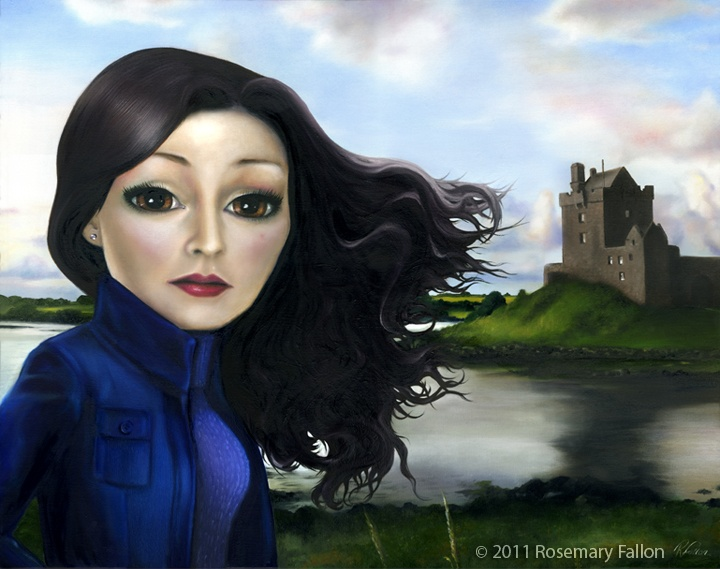 """kinvara girl oil on canvas - 24""""x30"""" (76x61cm) - signed and dated 2011 a memory www.rosemaryfallon.ie/"""