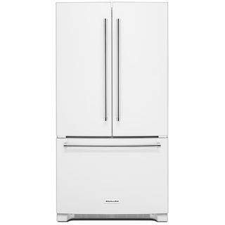 KitchenAid 25 Cu. Ft. French Door Refrigerator with Interior Dispenser - White | The Brick
