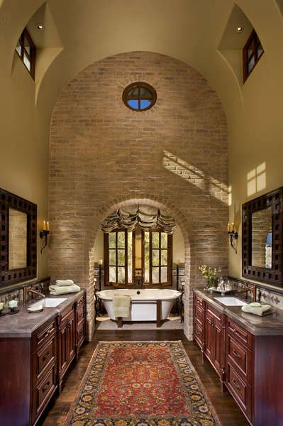 Desert oasis spanish colonial style old world for Colonial style bathroom vanities