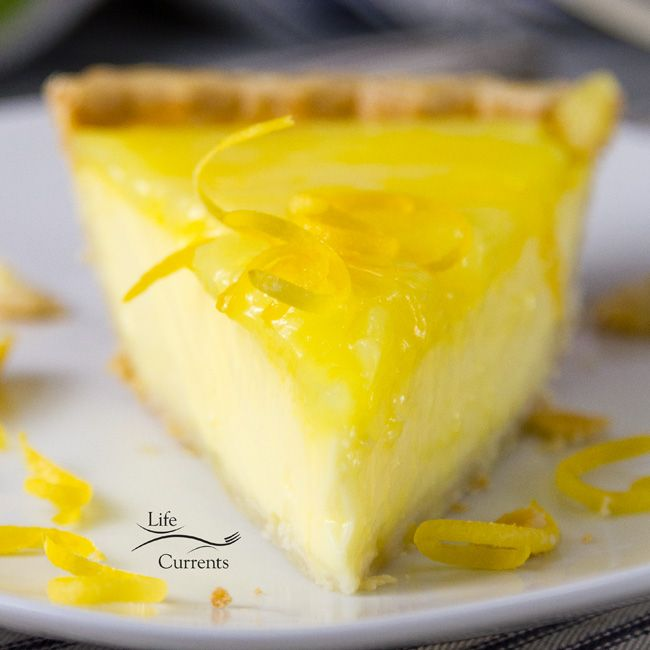 Grandma's Lemon Custard Pie with Lemon Curd Topping is the classic comfort food pie that Grandma loved to bake because she loved you