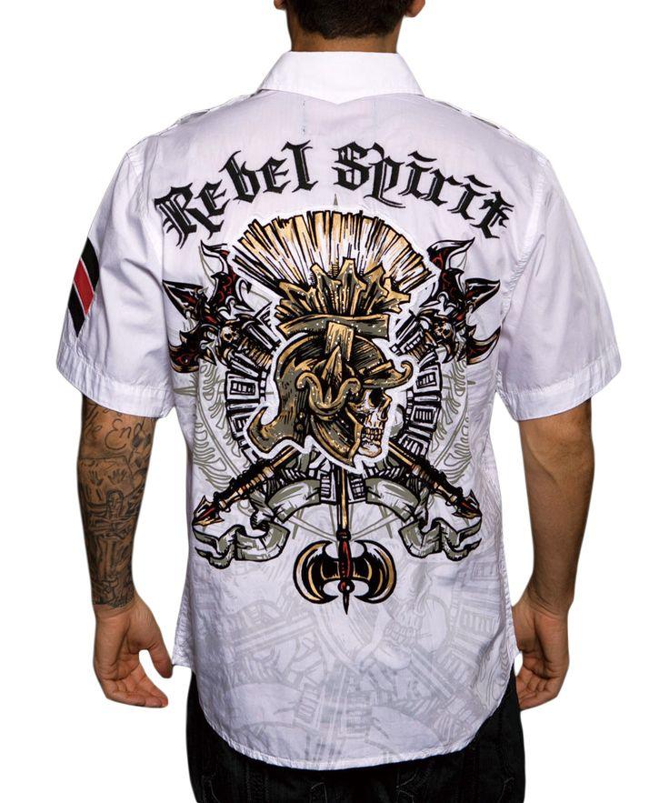 Pánská košile Rebel Spirit římský bojovník (bílá).