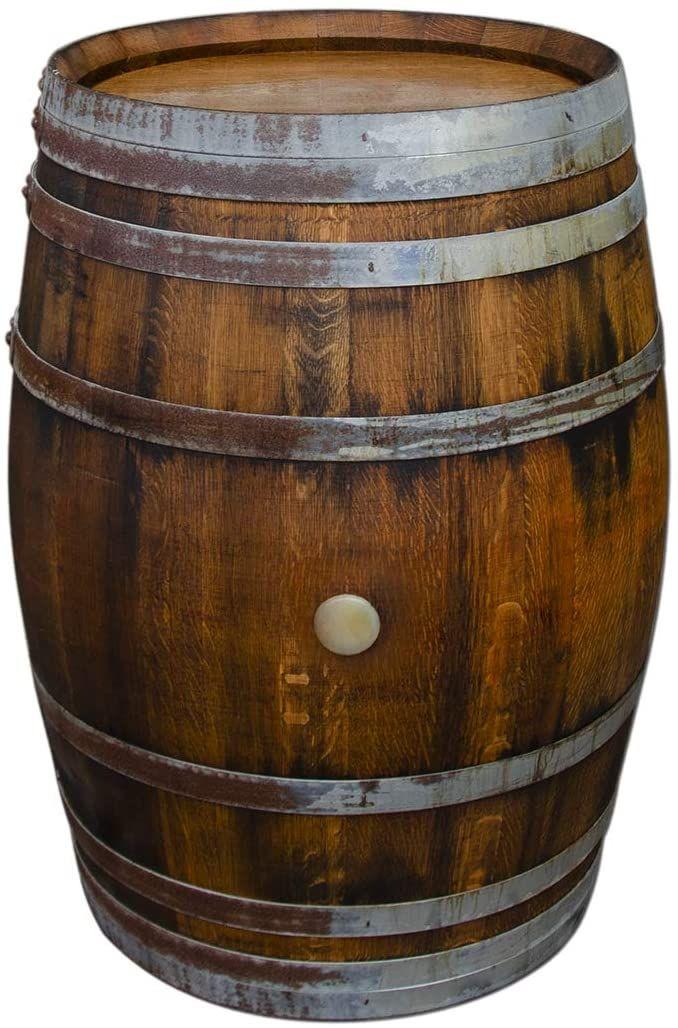 Temesso Bar Table Made Of Wood Barrel Garden Table Wine Barrel Barrels Table Made Of Oak Wood 225 Litres Amazon De Garten In 2020 Weinfass Fass Holzfass
