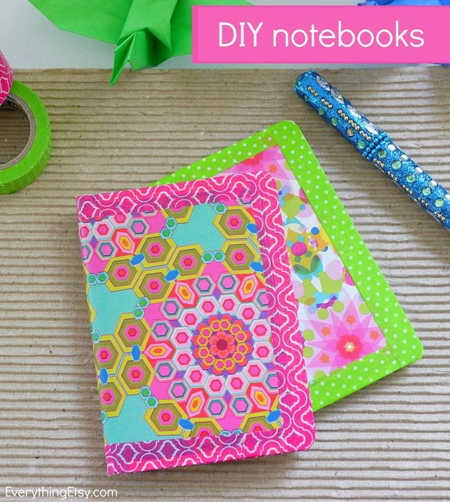 Colorful DIY Notebooks - Make them in minutes! EverythingEtsy.com #diy #backtoschool: Crafts Ideas Colors, Colors Notebooks, Ideas Colors Diy, Diy Backtoschool, Tape Rocks, Notebooks Mak, Tape Notebooks, Washi Tape, Colors Diy Notebooks