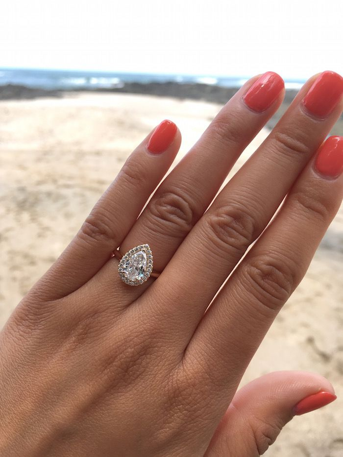 Look At This Gorgeous Pearshaped Engagement Ring IWRings - 18 worst proposals ever