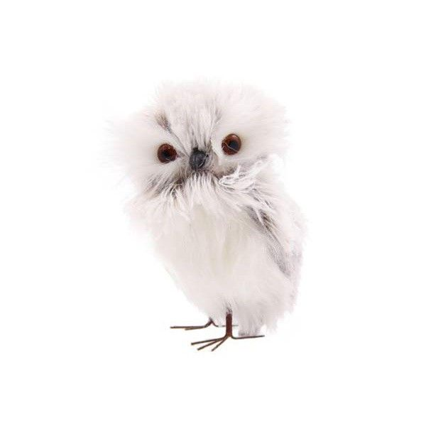 Lovely gray and white owl. Very soft and fluffy | It's all about Christmas