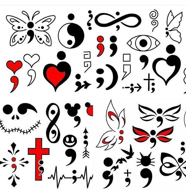 Fabulous Semicolon Tattoo Design For Girls