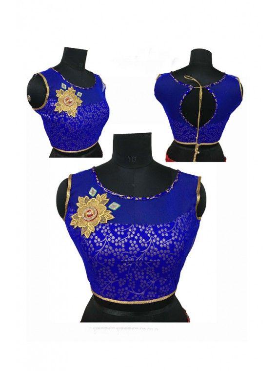 Flamboyant Royal Blue Blouse