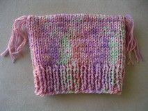 FREE knitting pattern for a childs, 8ply, square hat.