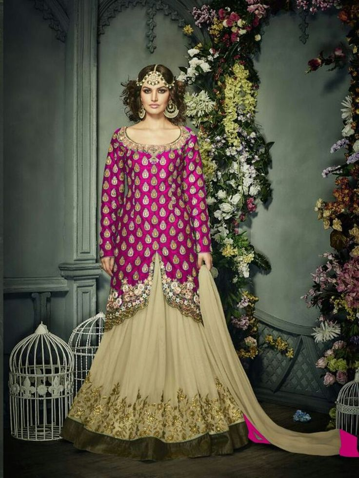 Indian Pakistani Ethnic Bollywood Designer Anarkali Lehenga Salwar Suit NRVN .