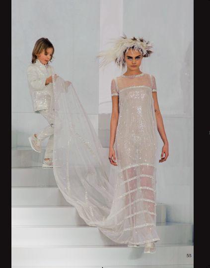 From Paris Haute Couture - Chanel. #hautecouture #catwalk #fashionshow #paris #ss2014 #chanel #caradelevigne