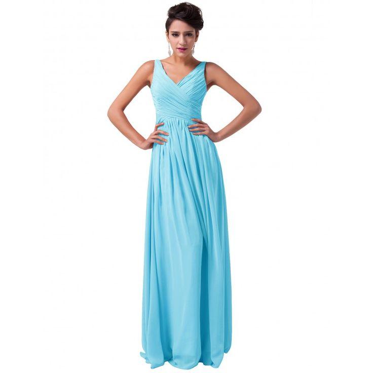 Modré spoločenské šaty CL6010-3