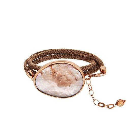 So CHIC… Celine Collection Sedef Üzeri Kahverengi Kristal Taşlı Rose Gold Kaplama 925 Ayar Gümüş Bileklik #wristband #silver #rose #brown #stone #fashion #jewellery #accessorize #women #trend #sochic #moda #pearl