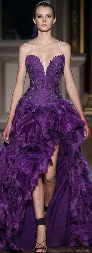 Zuhair Murad   Purple I love love love this dress!  Back in the day when I was young, cute & skinny... Sigh...