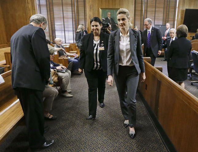 NASHVILLE, Tenn. (AP) -- A jury awarded Erin Andrews $55 million on Monday in her lawsuit against a stalker who bought a hotel room next to her and secretly recorded a nude video, finding that the hotel companies and the stalker shared in the blame.