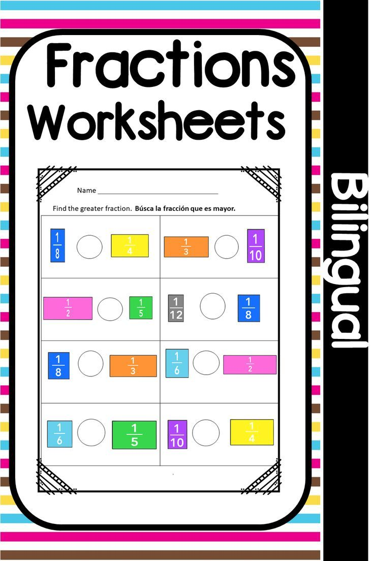 Need Help Teaching Your Second Third And Fourth Grade English Language Learners How To Identify And Compare Fractions Fractions Worksheets Teaching Fractions [ 1104 x 736 Pixel ]