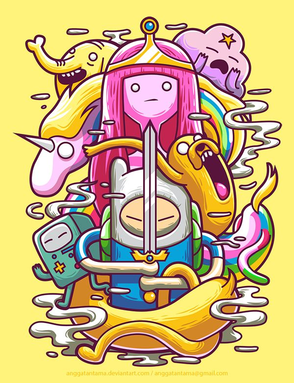 Adventure Time by Angga Tantama | via Behance | #illustration #ilustração #artedigital #digitalart #adventuretime